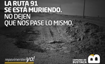Bustinza: Pedidos por arreglos en la ruta 91