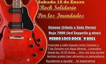 Rock Solidario en Plaza de Colectividades