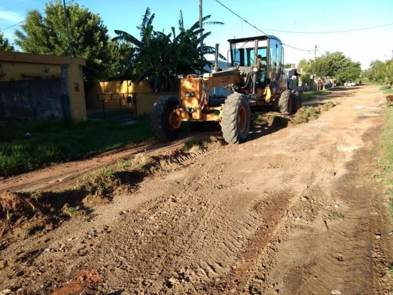 El Municipio continúa con trabajos en calles de zona sur