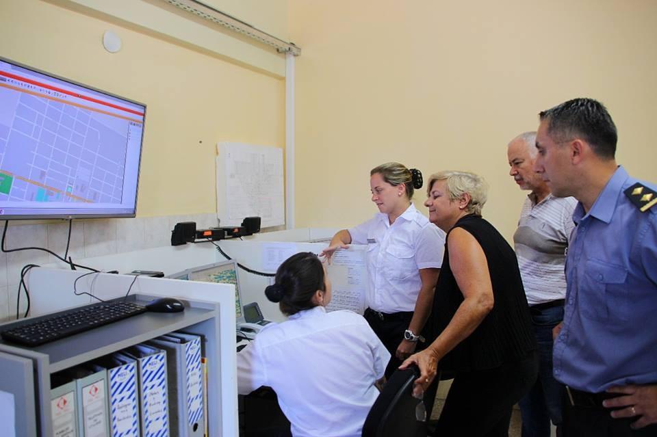 Clerici visitó el Centro de Monitoreo 911