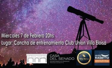 Tu Cielo: charla y observación astronómica en Villa Eloísa