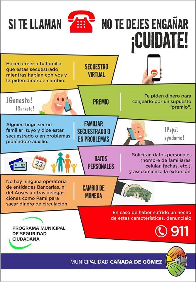 Información para evitar estafas