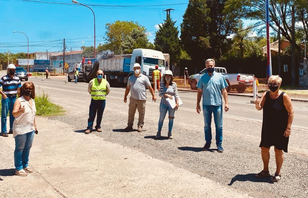 COMENZÓ LA OBRA DE RECONSTRUCCIÓN DE RUTA 9 EN ZONAS SEMAFORIZADAS