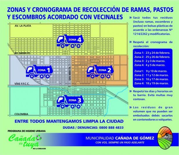 El municipio continúa trabajando con vecinos el nuevo cronograma de recolección