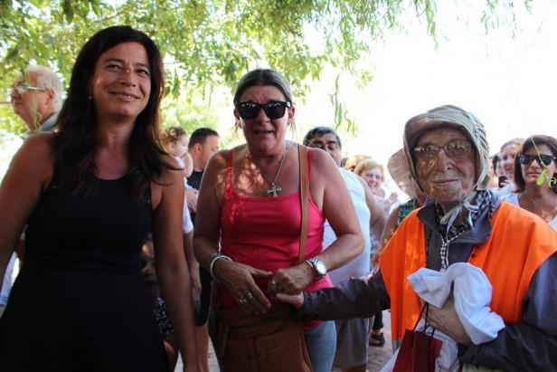 La secretaria de Gobierno recibió a la Abuela Peregrina