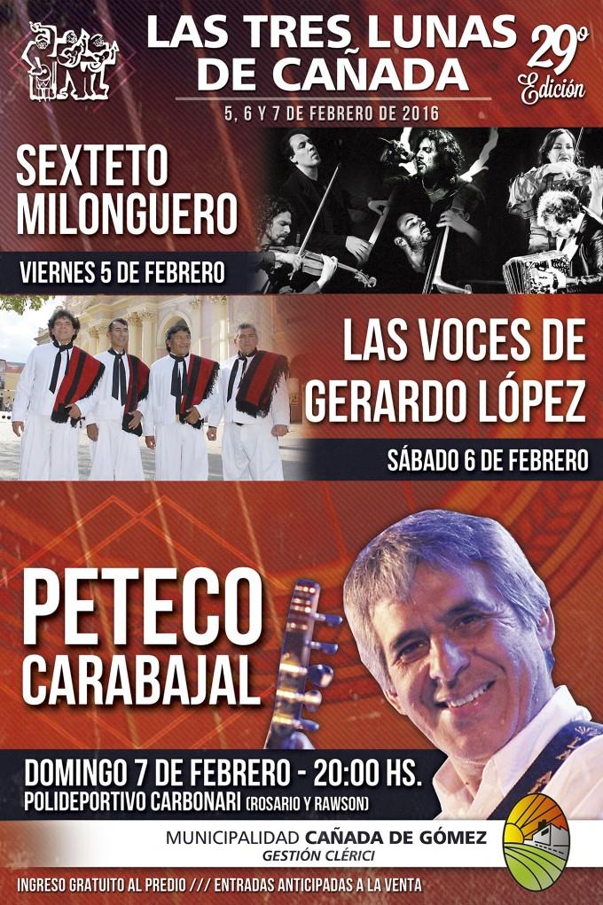 Peteco Carabajal cerrará el Festival Las 3 Lunas de Cañada