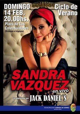 Sandra Vázquez en vivo en Plaza de Colectividades