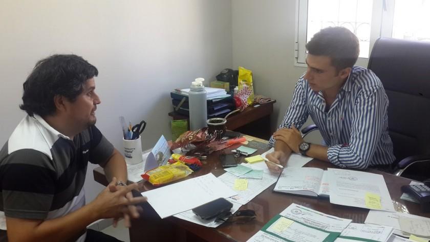 Mauroni se reunió con el delegado de la Región V de Educación
