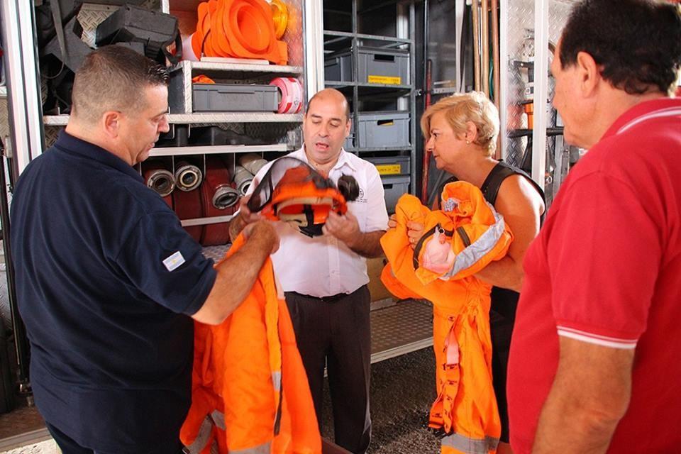 La intendenta destacó el trabajo conjunto con bomberos