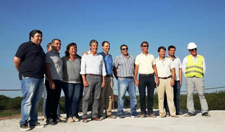 Rasetto recorrió la obra del nuevo puente de la ruta 26s sobre el Carcarañá