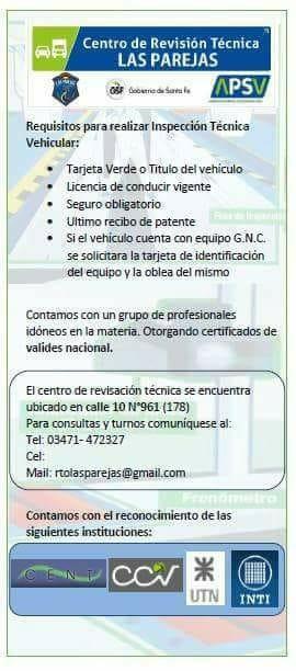 Requisitos para la realización de la Verificación Técnica Vehicular