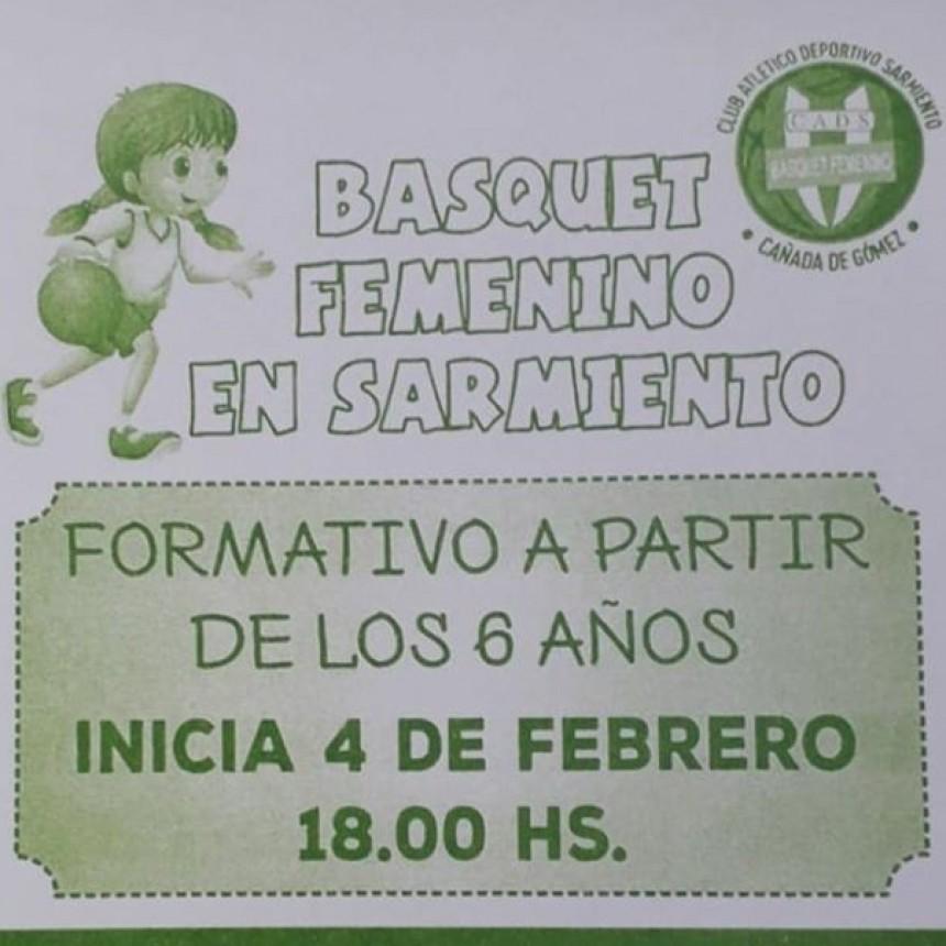 Comenzaron las practicas de basquet femenino den Sarmiento