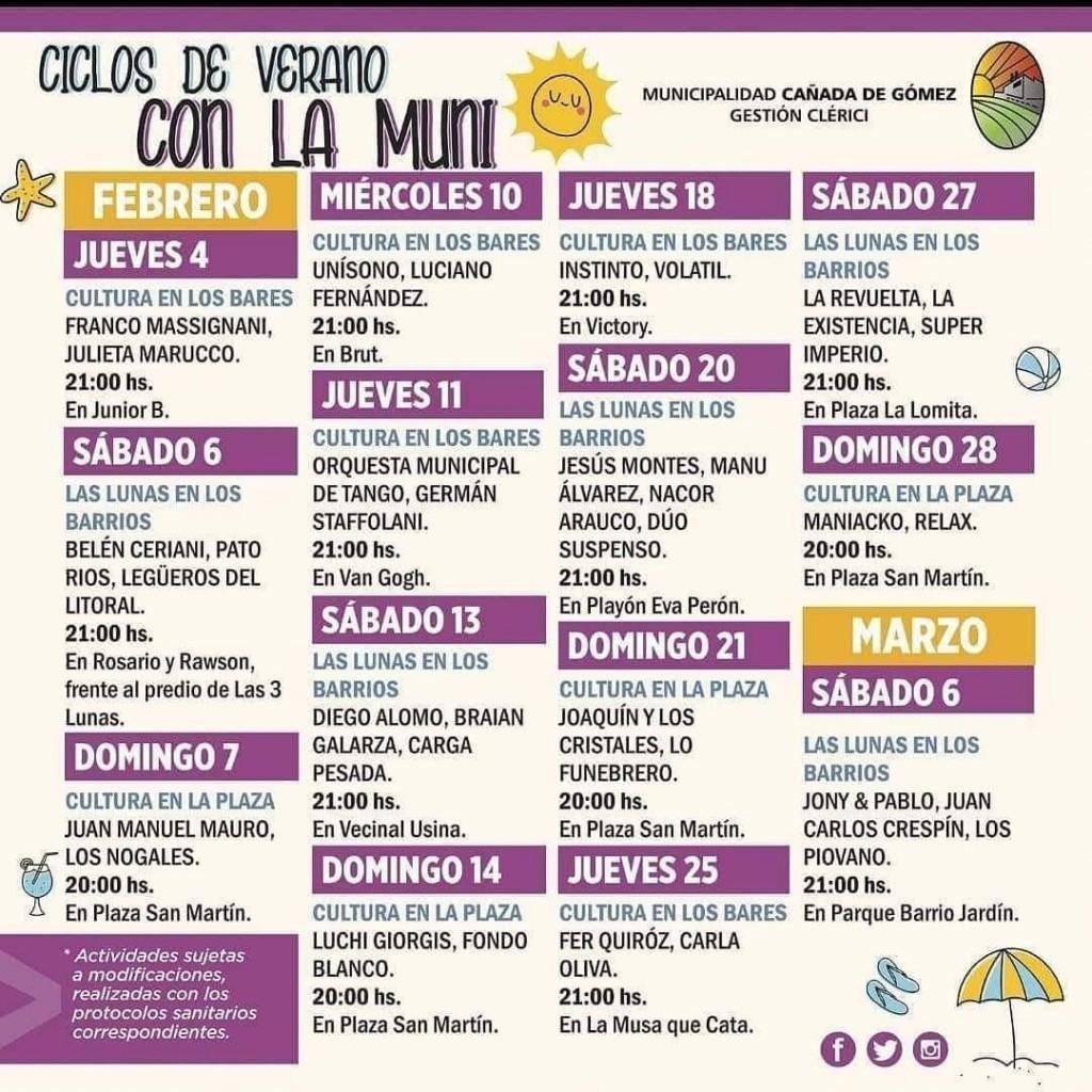 La Municipalidad lanza Ciclos de Verano con artistas locales