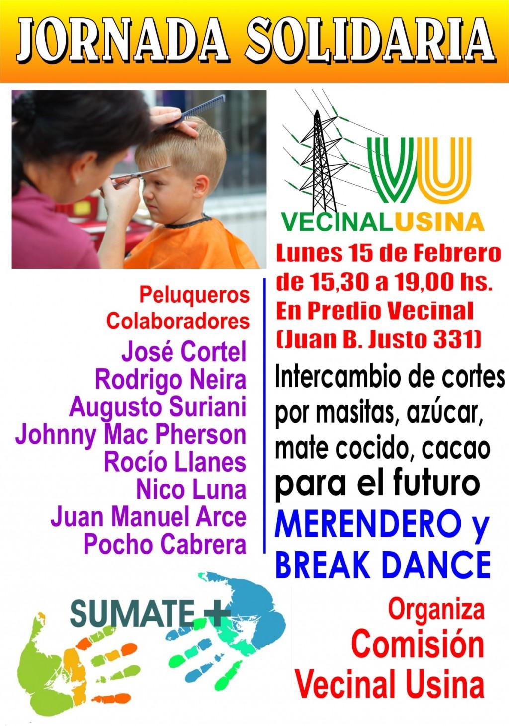 Jornada Solidaria en Vecinal Usina