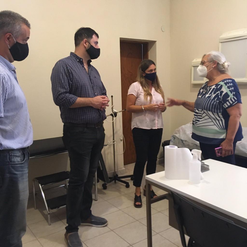 Silvana Di Stefano recorrió instituciones de Cañada de Gómez