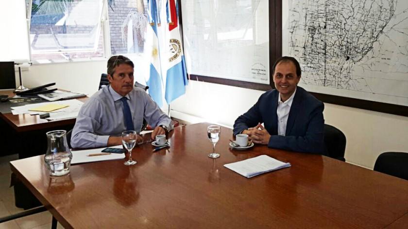 Nuevo encuentro entre Rasetto y Garibay por las obras en el Departamento