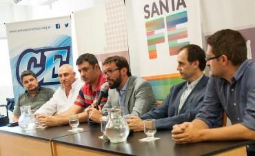 Rasetto y Casella presentaron el programa CREAR para el departamento Iriondo