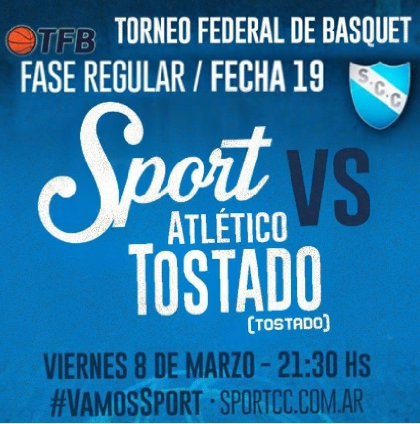 Sport recibe a Atlético Tostado