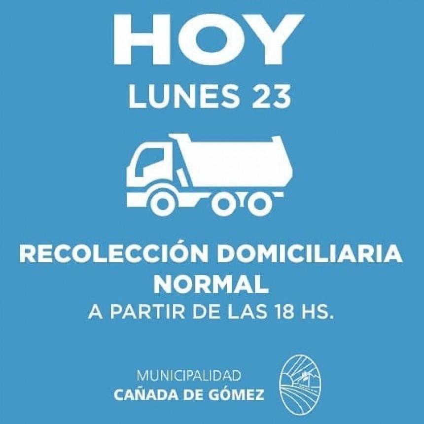 Hoy la recolección de residuos se realiza desde las 18hs