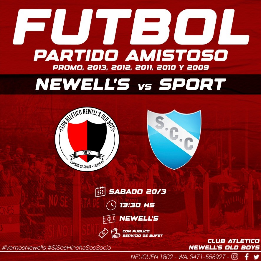 Fútbol. Amistoso NOB vs Sport