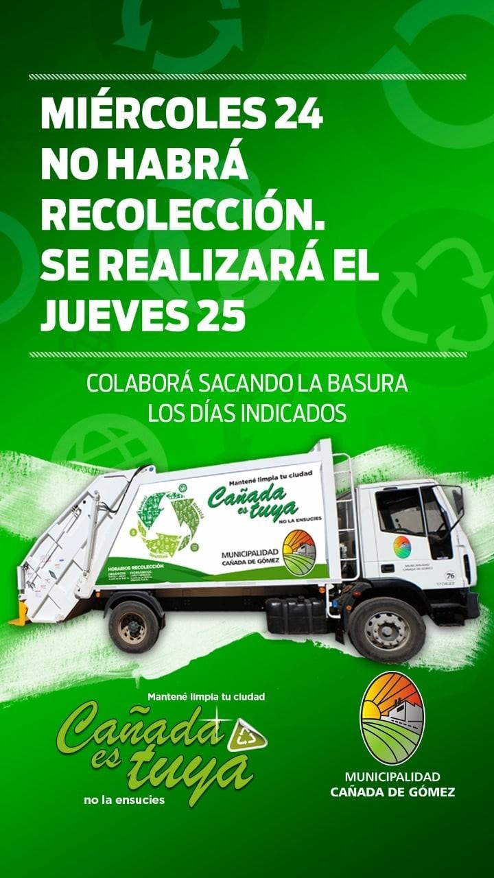 Hoy se reanuda la recolección de residuos domiciliarios