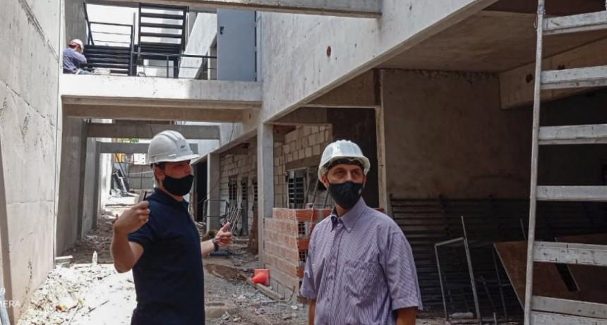 Rasetto recorrió los avances de obra del nuevo edificio de Tribunales en Cañada de Gómez