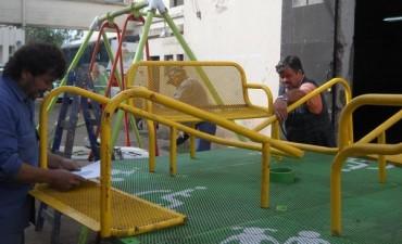 Se instalarán juegos adaptados en la plaza de Balcarce y Belgrano