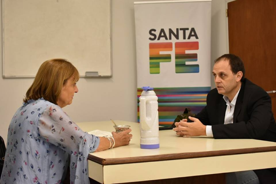 Rasetto se reunió con funcionarios provinciales
