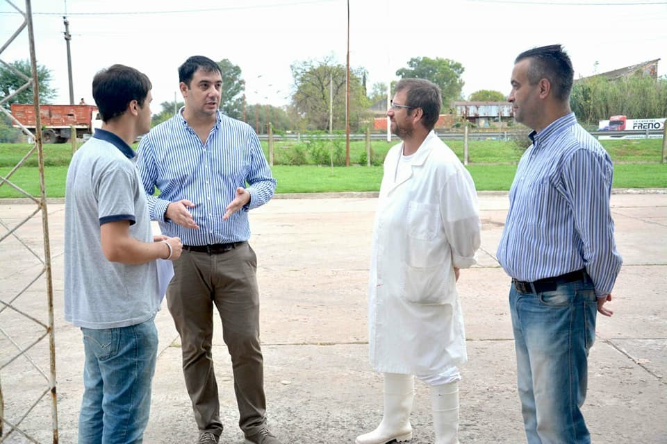 Los Concejales Chale y Travaglino recorrieron la Cooperativa de Carniceros