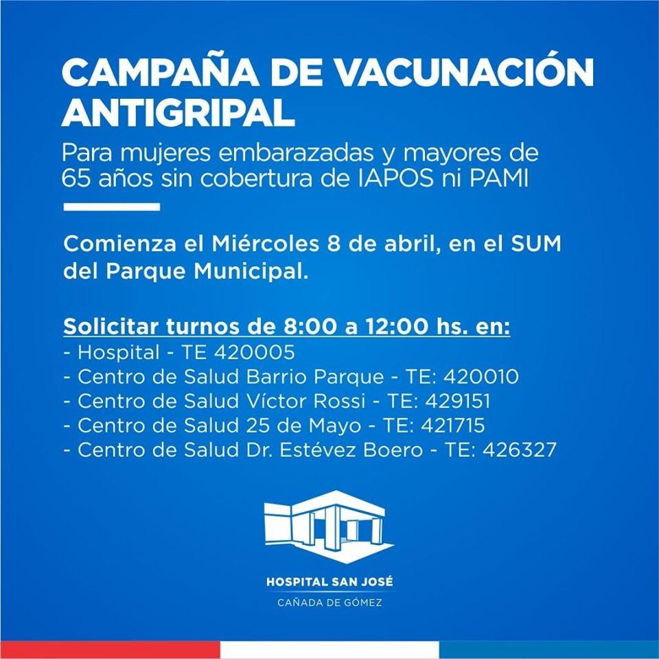 HOSPITAL COMIENZA LA CAMPAÑA DE VACUNACIÓN ANTIGRIPAL