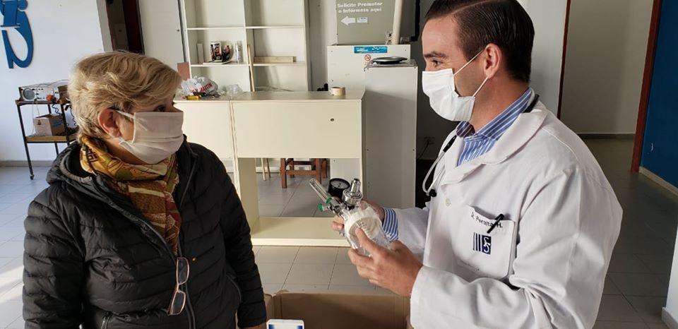 El Municipio entregó 19 manómetros de regulación de oxígeno al Sanatorio Regional