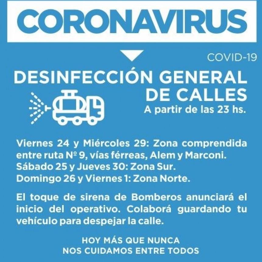 MUNICIPIO REALIZARÁ DESINFECCIÓN GENERAL DE CALLES