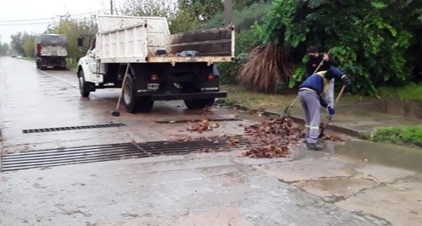 El Municipio interviene en la vía publica tras las lluvias