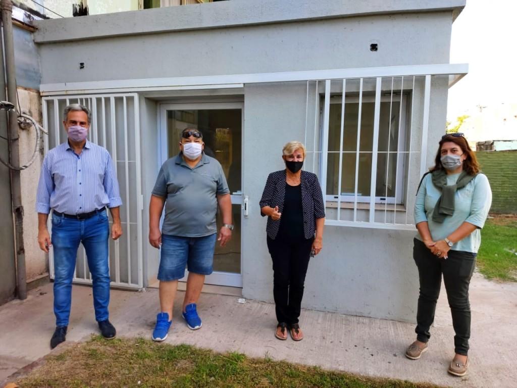 Avanzan los trabajos de ampliación en el Centro de Atención primaria de salud en el barrio FONAVI
