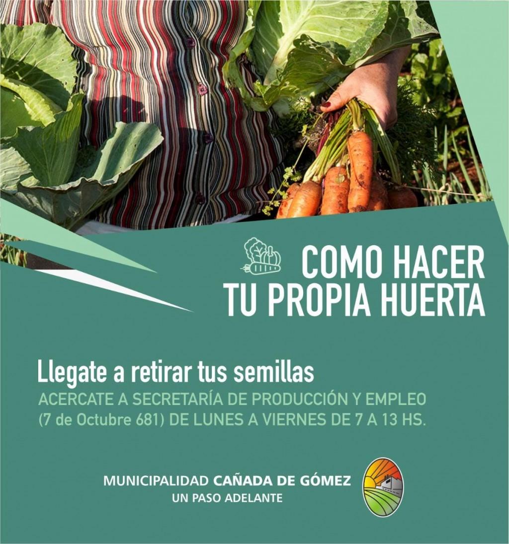 El Municipio entrega semillas del programa ProHuerta