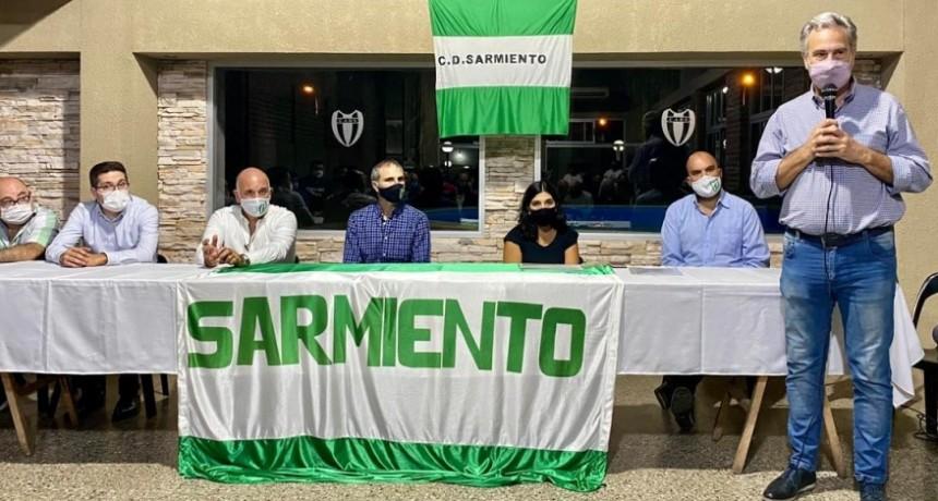Casalegno participó del acto por el 80 Aniversario del Club Sarmiento