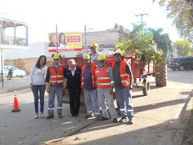 La municipalidad realiza tareas de poda y escamonda