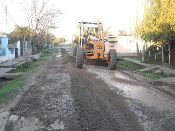 Comenzó el trabajo de movimiento de suelo en Barrio Usina