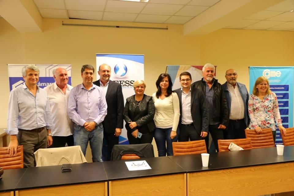 Clérici y Perotti se reunieron con empresarios y autoridades del Centro Economico