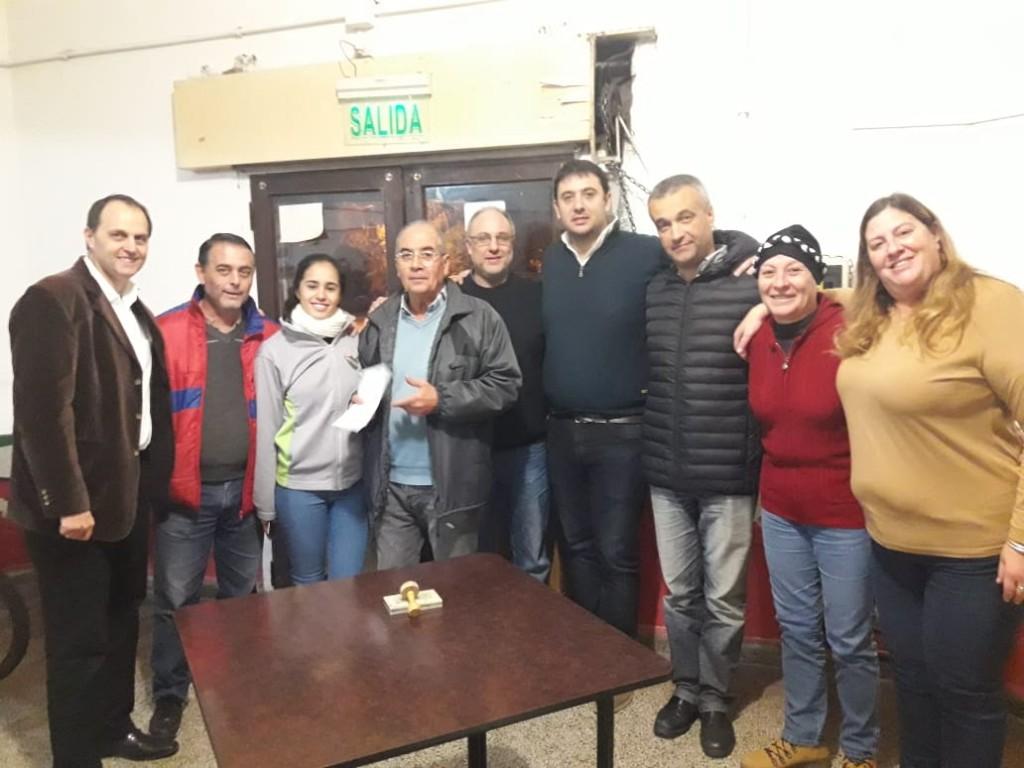 Rasetto entregó aportes en Cañada de Gómez