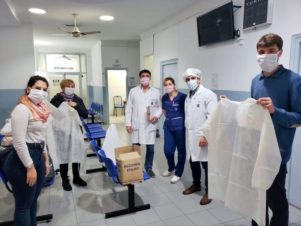 El municipio entregó barbijos y alcohol en gel