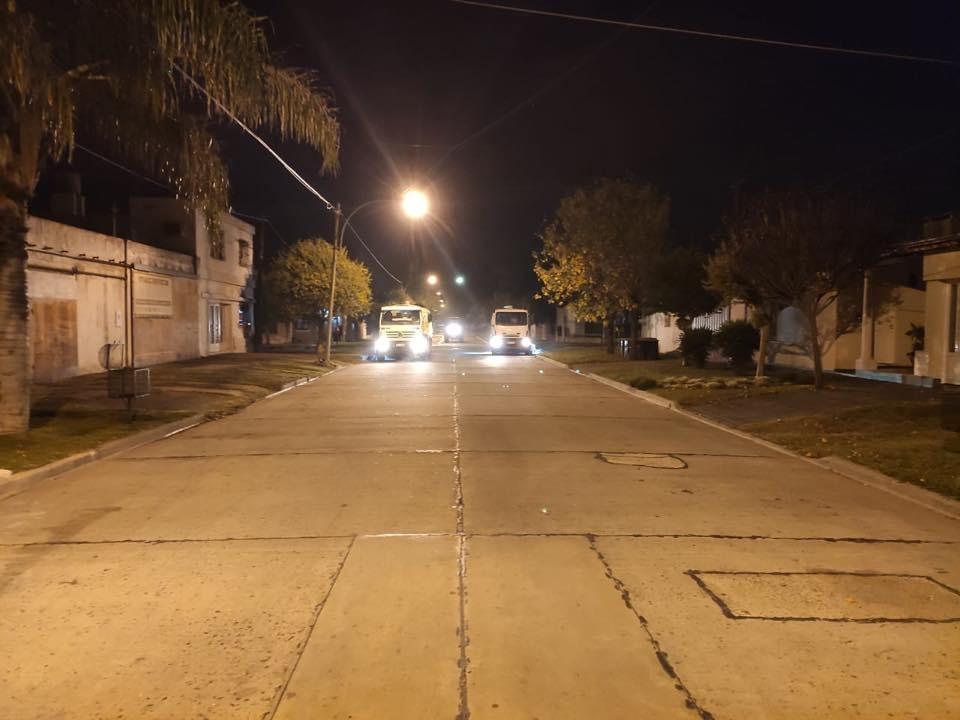 El Municipio continúa con la desinfección de calles