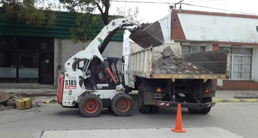 Continúan los trabajos de higiene urbana