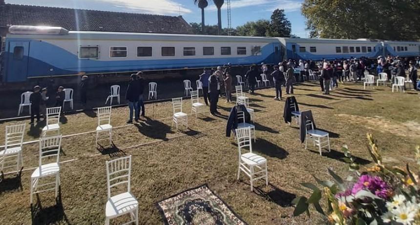 Después de 33 años Serodino volvió a tener la parada del Tren de Pasajeros