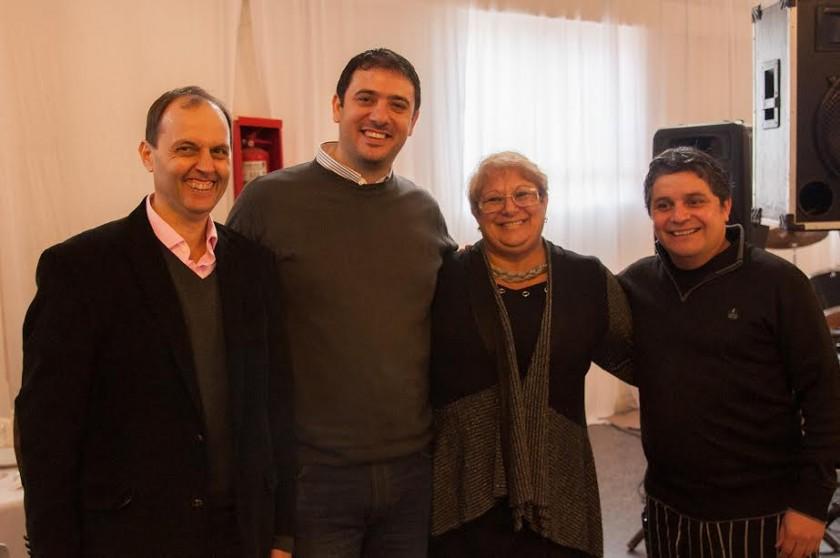 Rasetto, Chale, Mauroni y Travaglino en los festejos por los 100 años del Normal