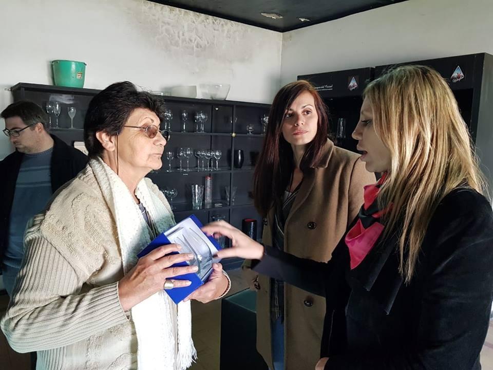 Visita de la senadora Sacnún a Cañada de Gómez