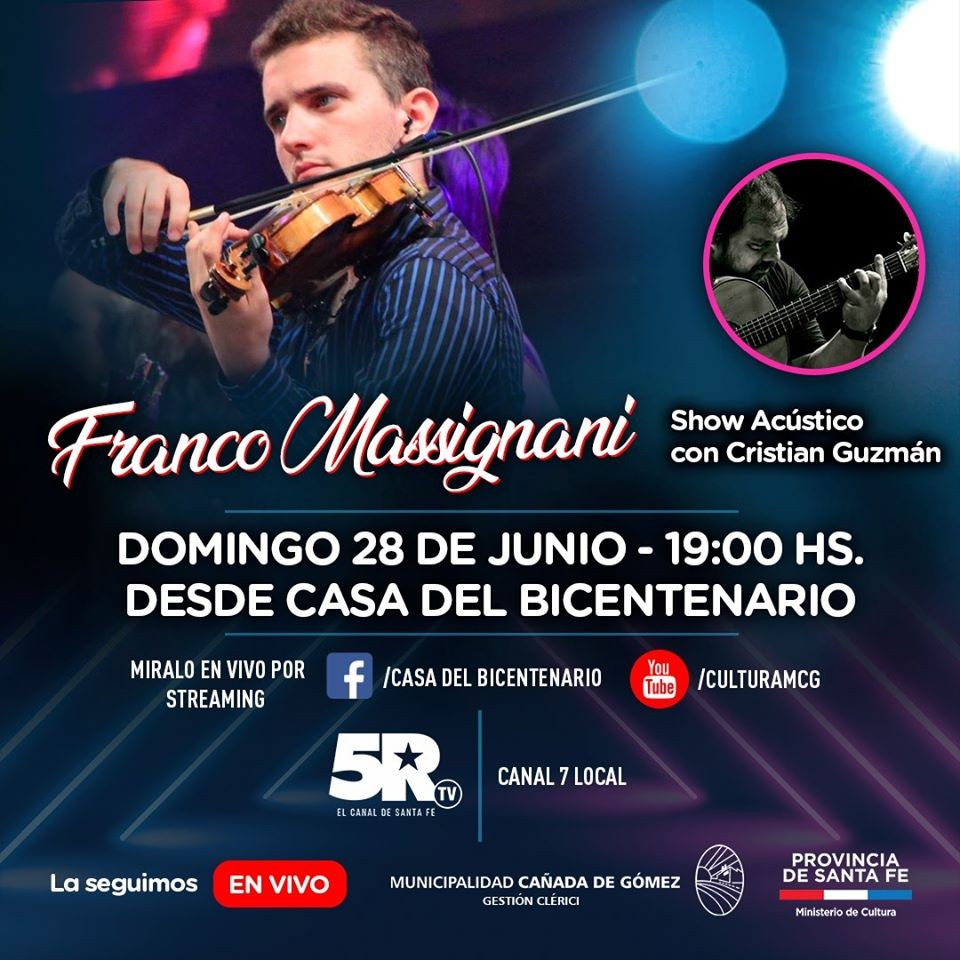 Franco Massignani en vivo por streaming