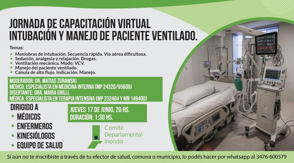 Jornada de capacitación virtual: Intubación y manejo de paciente ventilado