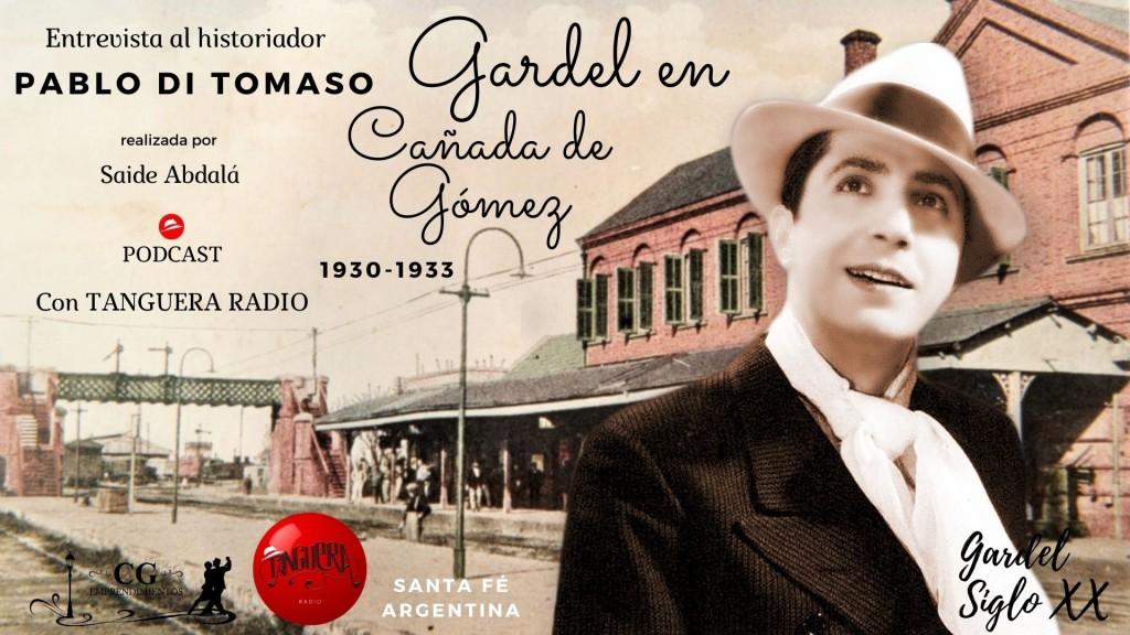Pablo Di Tomaso entrevistado en un homenaje a Carlos Gardel