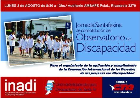 Jornada Santafesina por la consolidación del Observatorio de Discapacidad